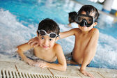 On beautiful pool, summer great time! — Stock Photo