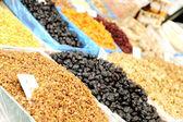 Alimentos orgánicos naturales en el mercado, plaza, bazar — Foto de Stock