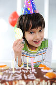 Child birthday, 6 years old — Stock Photo