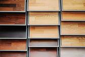 Top amostras de paleta de cores diferentes - assoalho de madeira — Foto Stock
