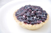 Dessert, sweet, fruits, cream, plate — Stock Photo