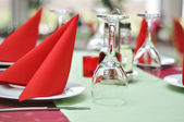 Restaurand prepared table — Stock Photo