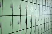 Green lockers — Stock Photo