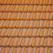 Roof pattern, red color, many pieces - Stock Photo