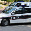 Stock Photo: Police car outdoor on street