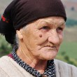 Very old woman with expression on her face — Stock Photo #9992274