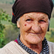 Stock Photo: Very old woman with expression on her face