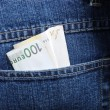 Money in pocket — Stock Photo #9992313