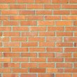 Standard brick wall, orange color, good for design — Stock Photo