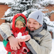 Stock Photo: Great activity on snow, children and happiness