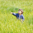 Happy childhood, outdoor, nature scene — Stock Photo #9992504