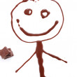 Chocolate boy — Stock Photo
