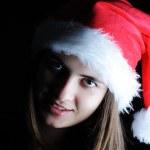 Beautiful santa girl — Stock Photo