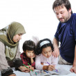 Stock Photo: Family muslim