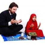 Muslim fasting activities in Ramadan month — Stock Photo