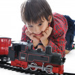 Train toy, present for children - Stock Photo