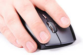 Male hand on mouse — Stock Photo