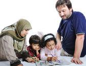 家庭穆斯林 — 图库照片