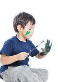 Boy paints — Stock Photo