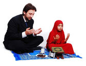 Muslim fasting activities in Ramadan month — Stock Photo
