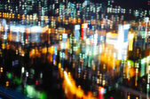 Light of the city in the night, blured — Stock Photo