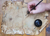 Very old grunge paper, great for background or your text — Stock Photo