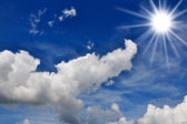 Beautiful sky and clouds and sun — Stock Photo