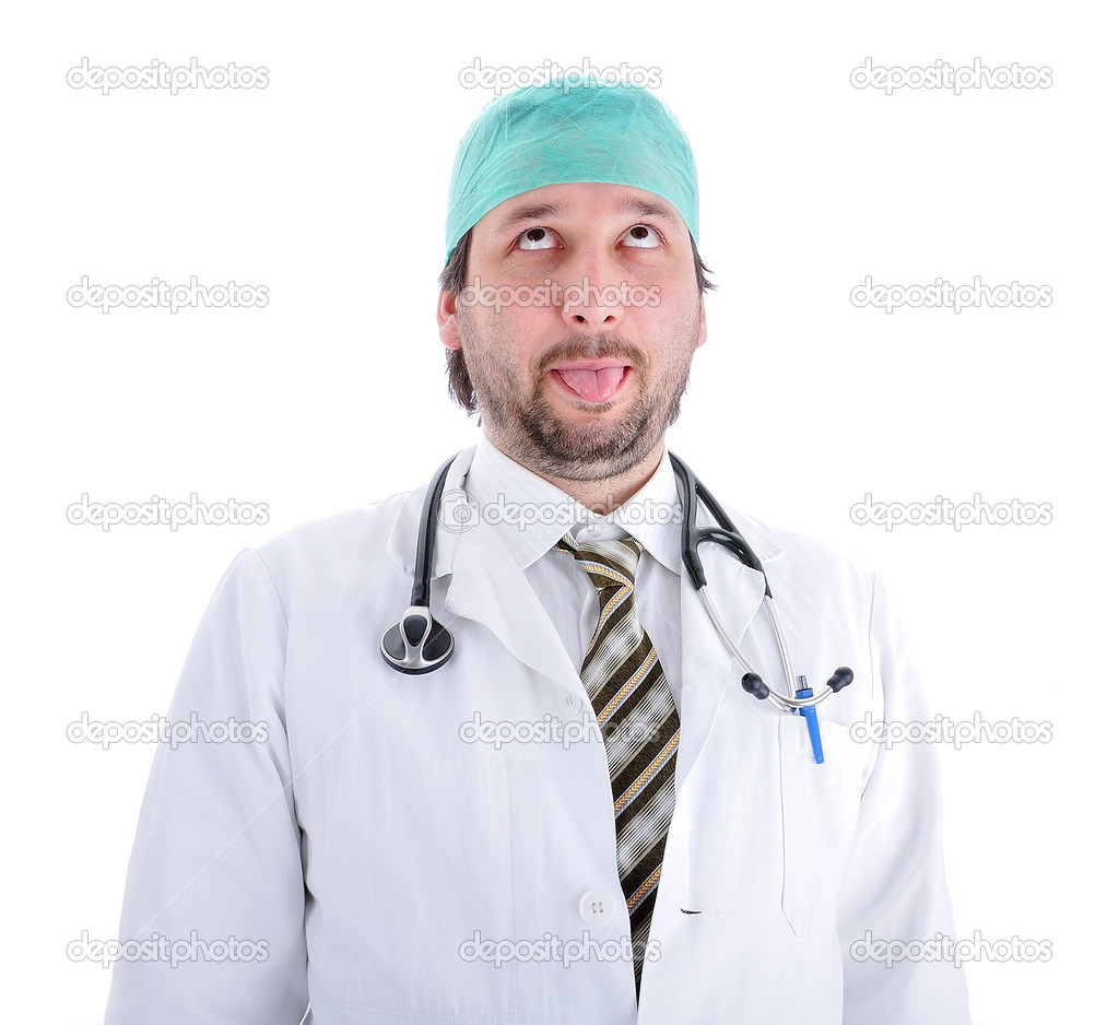 Silly doctor — Stock Photo #9992975