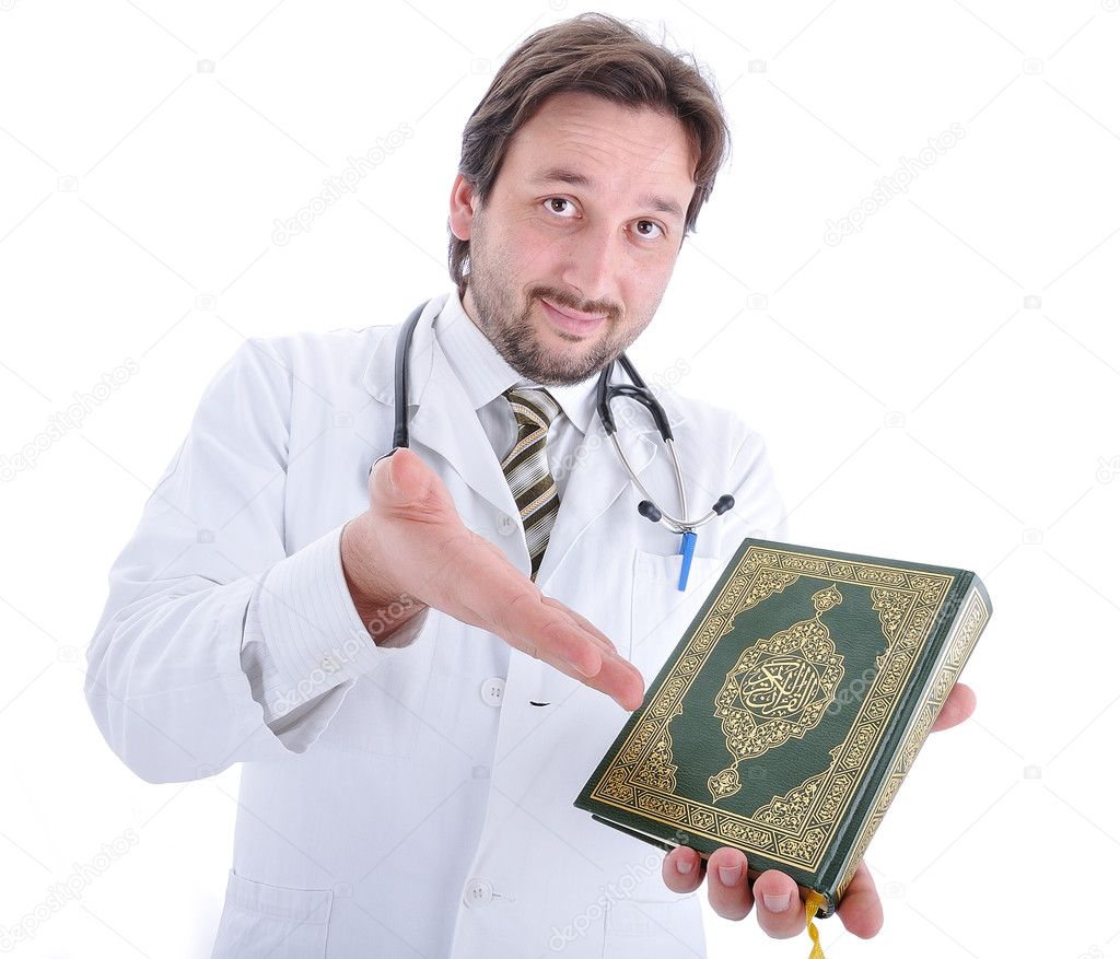 Young attractive male doctor in characteristic clothes — Foto Stock #9992980