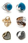 Un set di anelli — Foto Stock