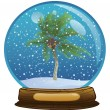 Stock Photo: Sphere with snow