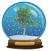 Sphere with a snow — Stock Photo