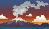вулкан — Стоковое фото