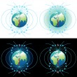 Magnetic field of Earth — Stockfoto