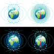 Magnetic field of Earth - Stock Photo