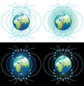 Magnetic field of Earth — Stock Photo