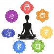 Stock Photo: Seven chakras