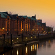 Royalty-Free Stock Photo: Speicherstadt sunset