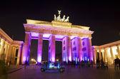 Festival of lights brandenburger tor pink RF — Stock Photo