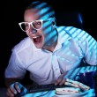 Erd surfing internet at night time — Stock Photo #8446401