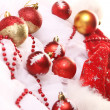 Background of Christmas balls — Stock Photo #8446509