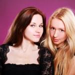Two beautiful girlfriends — Stock Photo