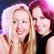 Two beautiful girlfriends — Stock fotografie