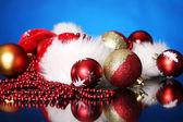 Background of Christmas balls — Stock Photo