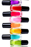 Colorful nail polish — Stok fotoğraf