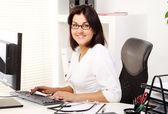 Young and attractive woman doctor — Stock Photo
