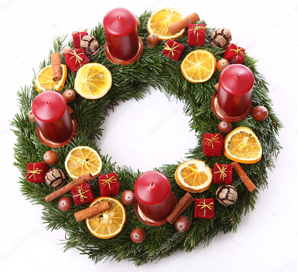 Close up of Christmas wreath — Stock Photo #8446627