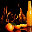 Stock Photo: Hot orange drink