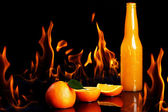 Hot orange drink — Stock Photo