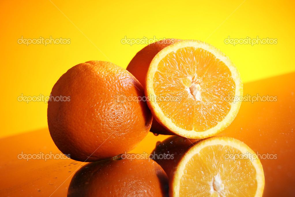 Close up of fresh orange fruit — Stock Photo #8801723